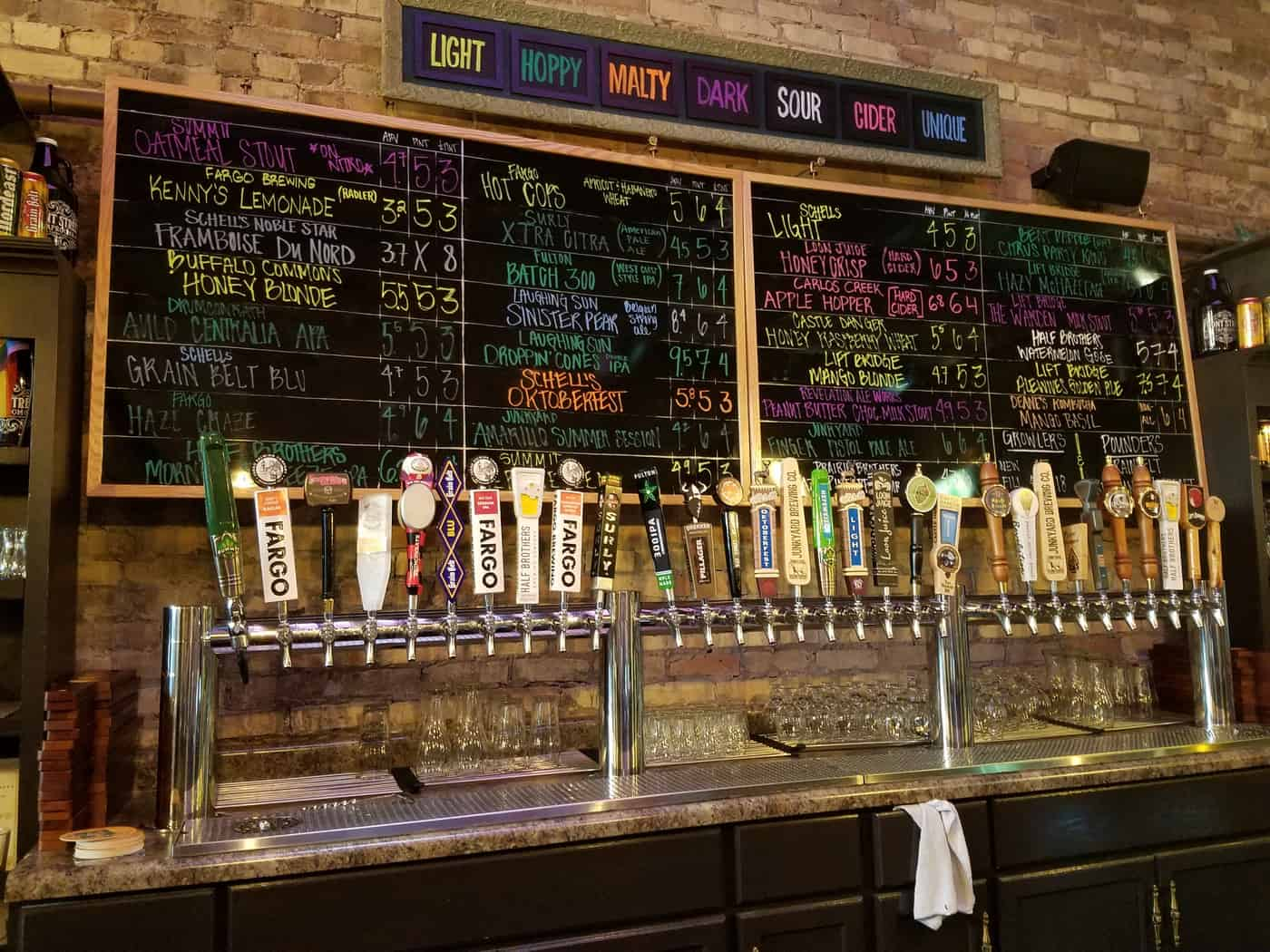 Front Street Taproom features 30 Tap Lines dedicated to MN and ND produced local craft beer, cider, and kombucha.